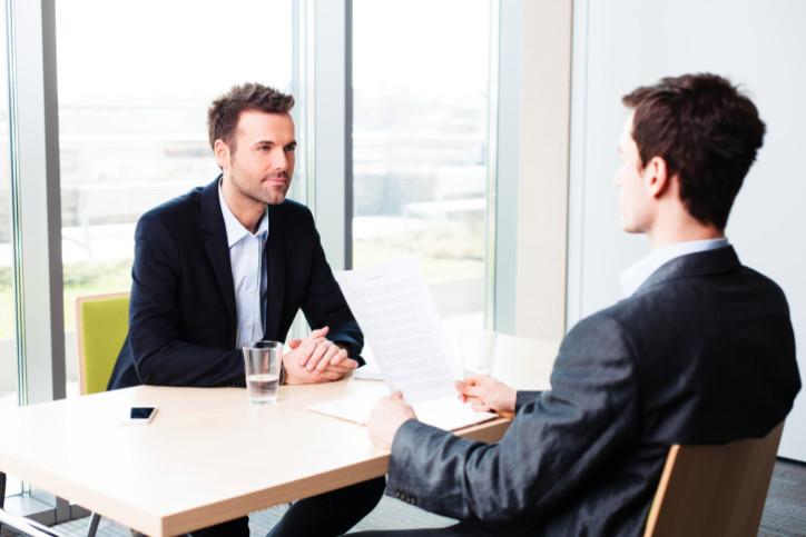 entretien d'un candidat